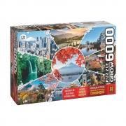 Quebra-Cabeça Paisagens do Japão 6000 Peças - Grow 3950