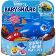 Robo Alive Junior Baby Shark Azul Candide 1118