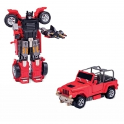 Robo Transformavel Jipe Vermelho Super Maquinas 2091 Buba