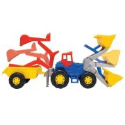 Trator Truck Super Azul Magic Toys 5012