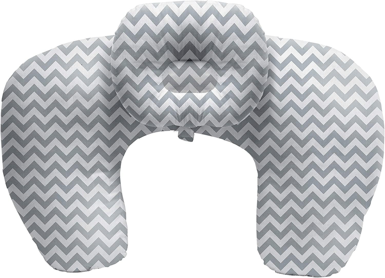 Almofada de Amamentação com Travesseiro Cinza - Buba 10713