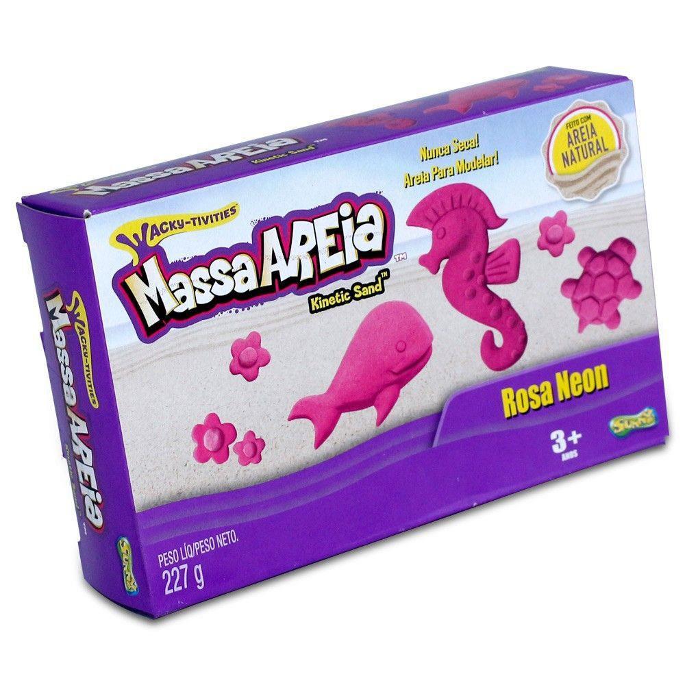 Areia De Modelar 227 G Cores Neon Rosa Sunny 1801