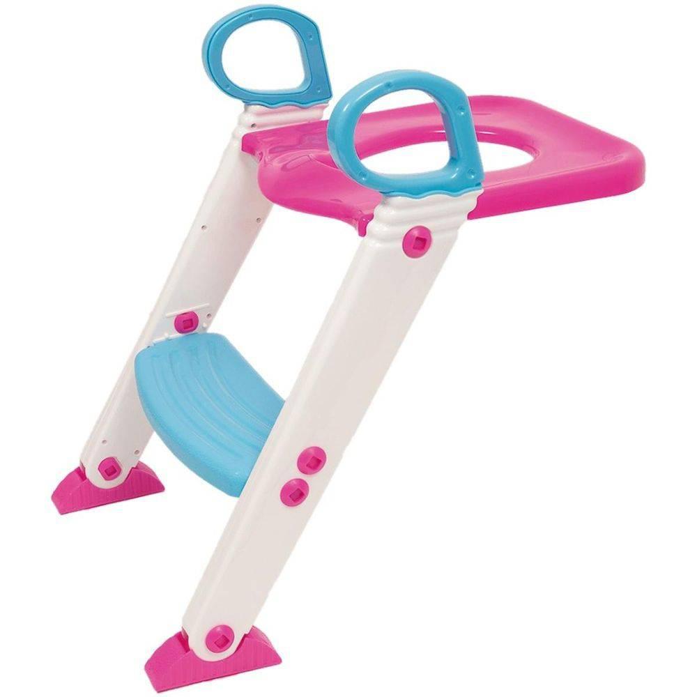 Assento Redutor Com Escada Rosa 7425 - Buba