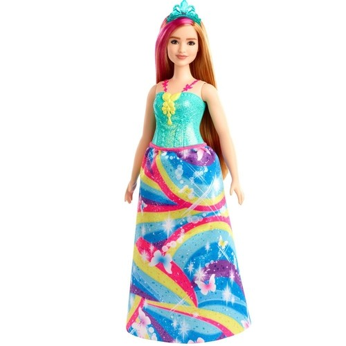 Barbie Dreamtopia Princesa Loira Vestido Arco-Íris Mattel GJK12