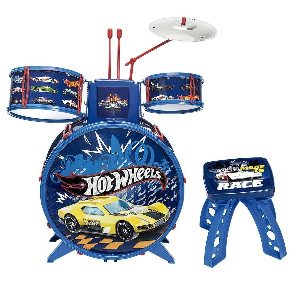 Bateria Infantil Hot Wheels - Fun F00057