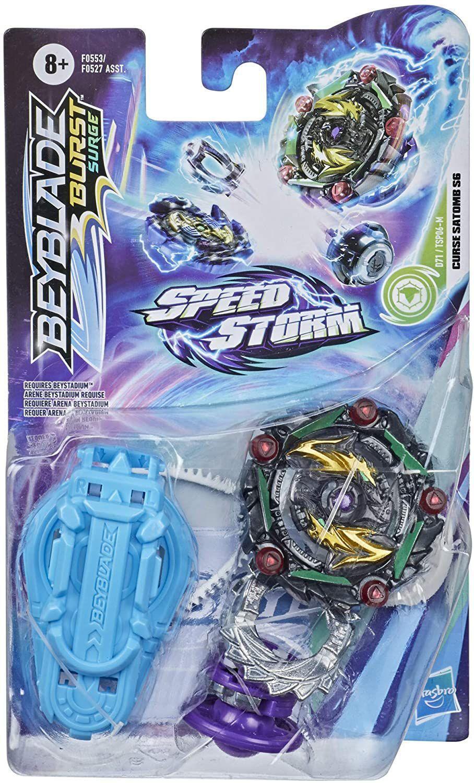 Beyblade Speedstorm com Lançador Curse Satomb SG - Hasbro F0527