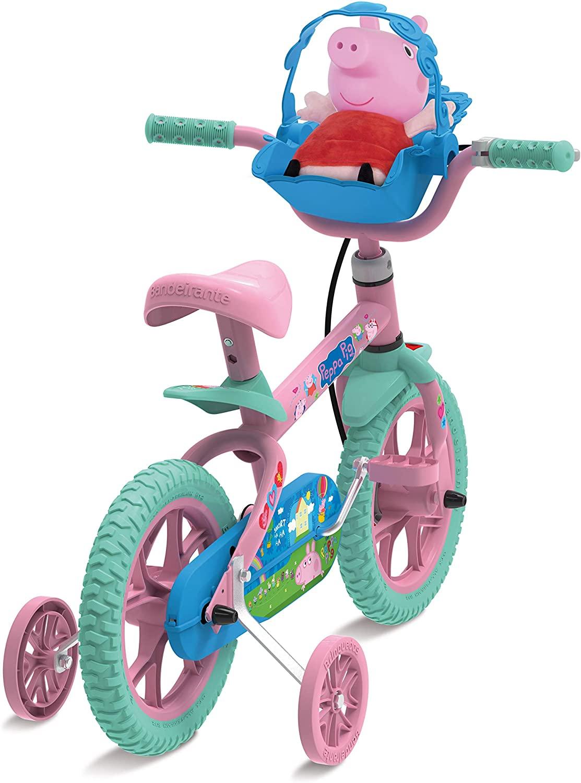 """Bicicleta Aro 12"""" Peppa Pig - Bandeirante 3322"""