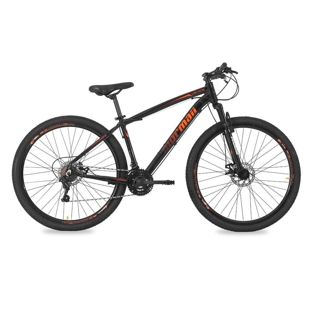 Bicicleta Aro 29 Q17 34,7 21V Masc Venice 1.0 Preto Brilho/Laranja - Mormaii