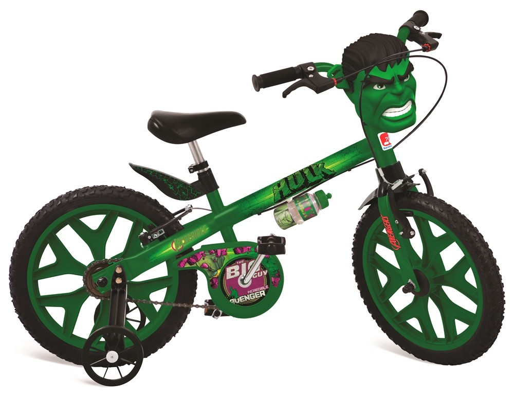 Bicicleta Infantil Aro 16 Hulk - Bandeirante 2422