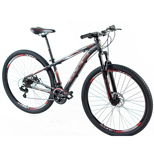 Bicicleta Vision GT X1 Aro 29 T-19 Preto/Vermelho Garantia Vitalícia - Ducce 110