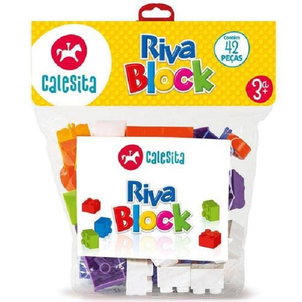 Blocos Para Montar Riva Block 2 Com 42 Peças Coloridas - Calesita