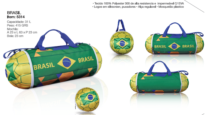 Bola Bolsa Para Academia Brasil 5314 - Maccabi