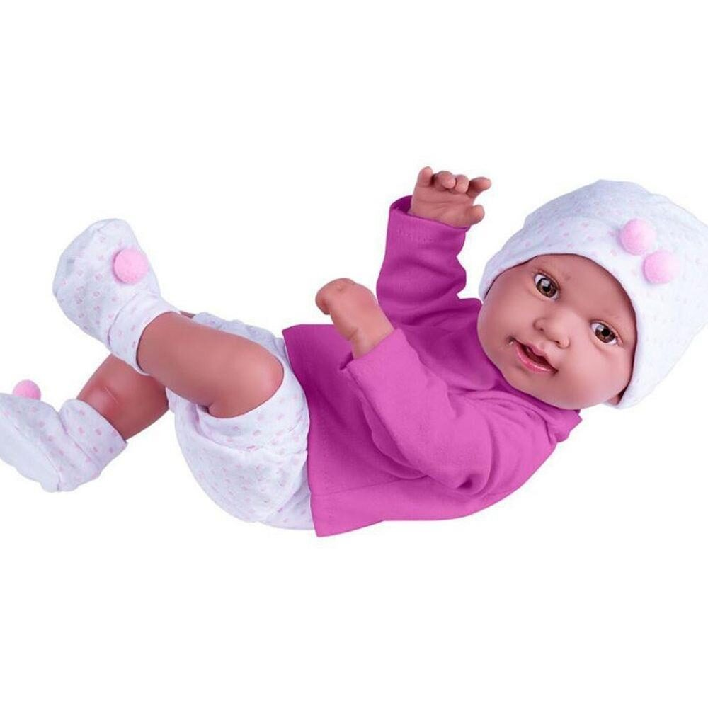 Boneca Anny Doll Baby Reborn Shorts Blusa - Cotiplás 2443