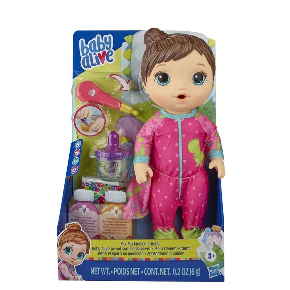 Boneca Baby Alive Aprendendo a Cuidar  Morena - Hasbro E6942