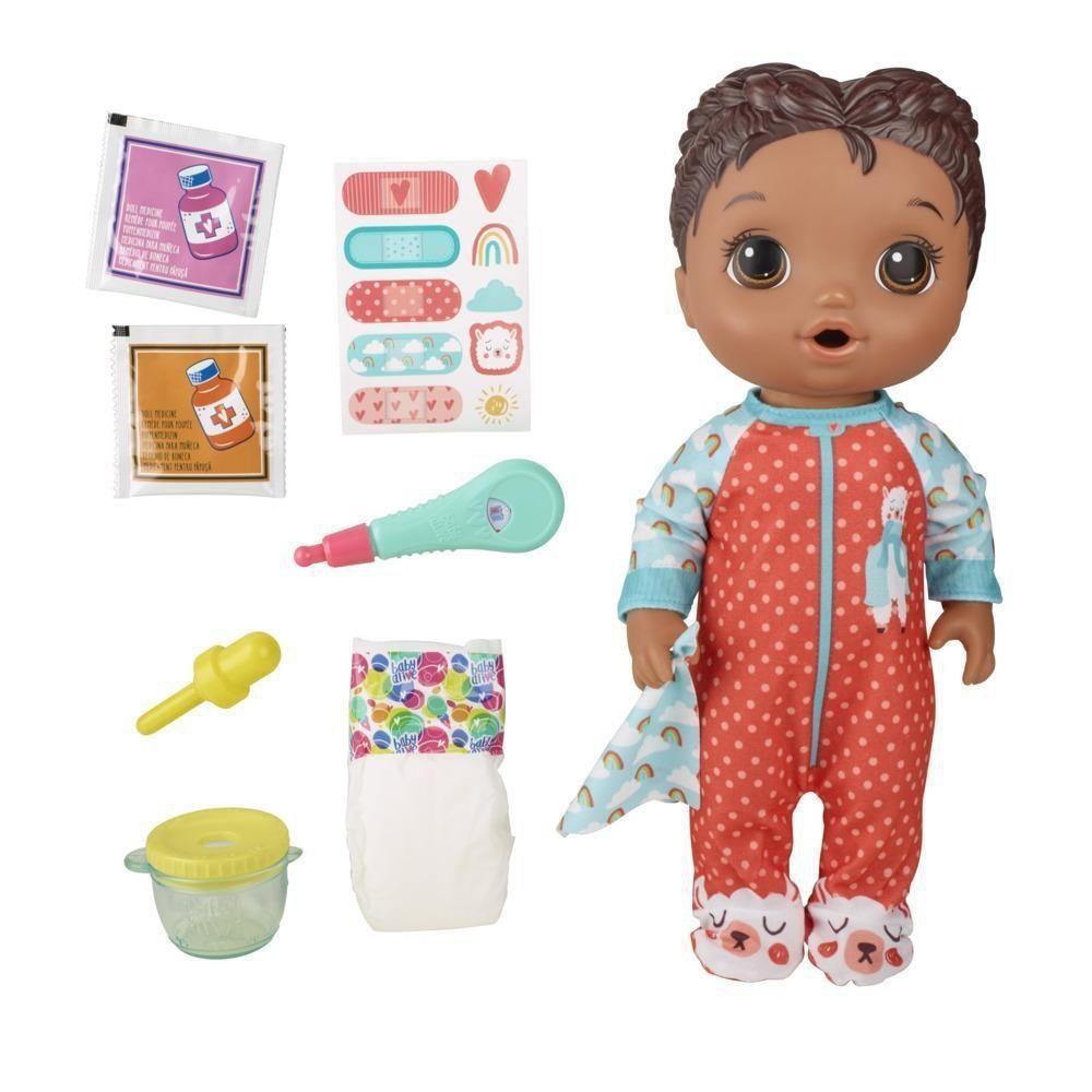 Boneca Baby Alive Aprendendo a Cuidar Negra -Hasbro E6941