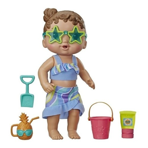 Boneca Baby Alive Babê Sol E Areia Morena - Hasbro E8718