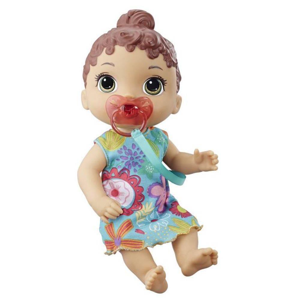Boneca Baby Alive Bebê Primeiros Sons Morena E3688 - Hasbro