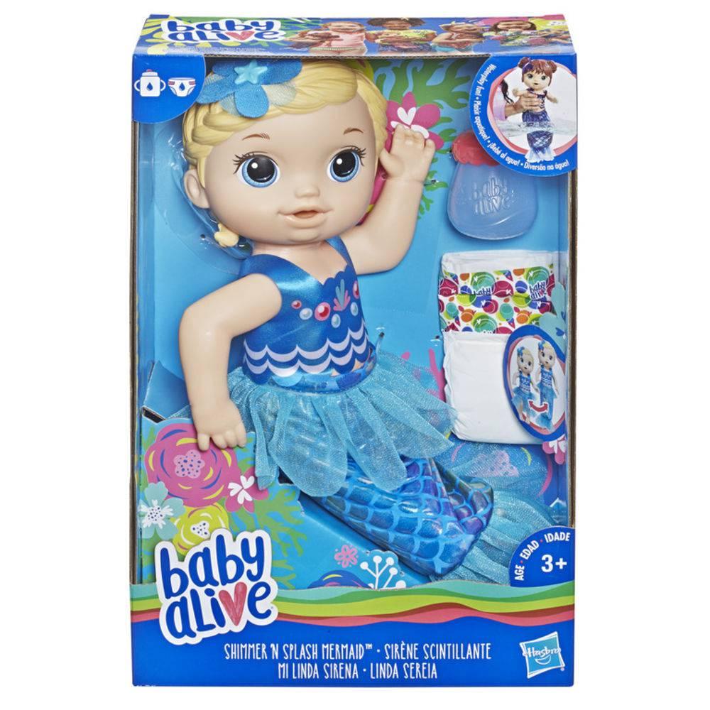 Boneca Baby Alive Linda Sereia Loira E3693 - Hasbro