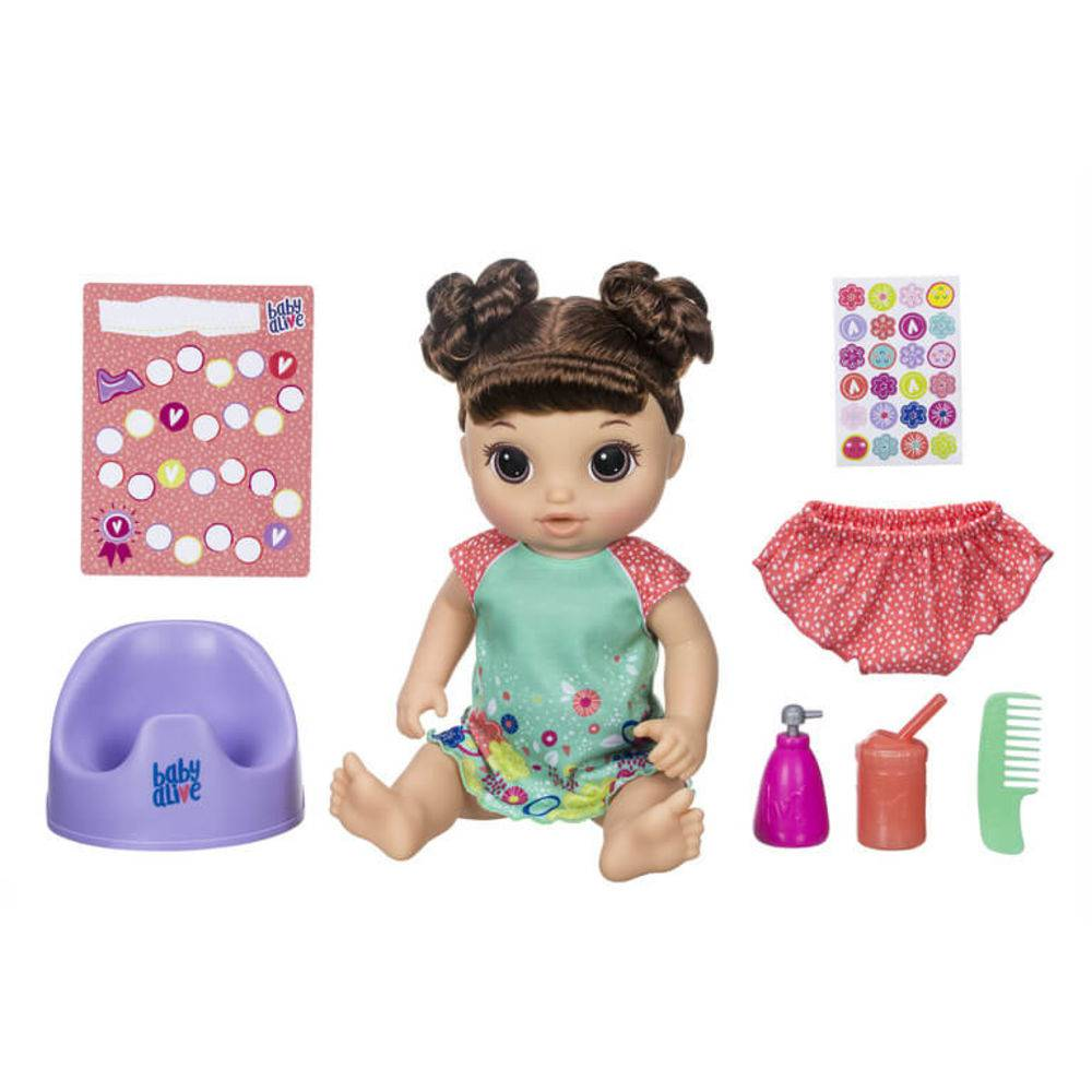 Boneca Baby Alive Primeiro Penico Morena E0610 - Hasbro