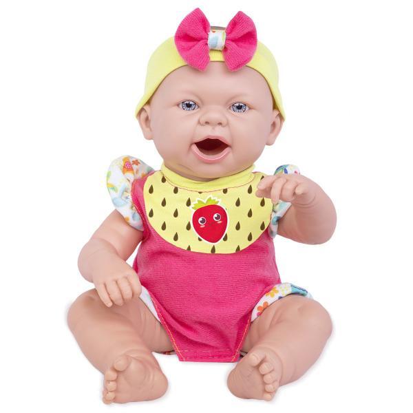 Boneca Baby Ninos Reborn Hora do Lanche - Cotiplás 2406
