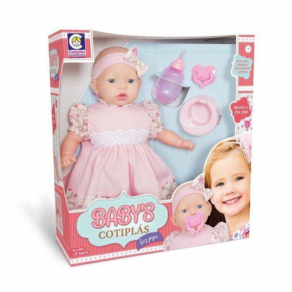 Boneca Babys Faz Pipi 2068 - Cotiplas