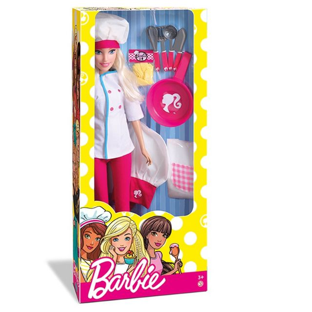 Boneca Barbie Chef 1253 Pupee