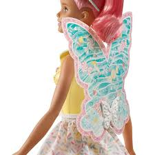 Boneca Barbie Dreamtopia Fada Cabelo Rosa - Mattel GJJ98