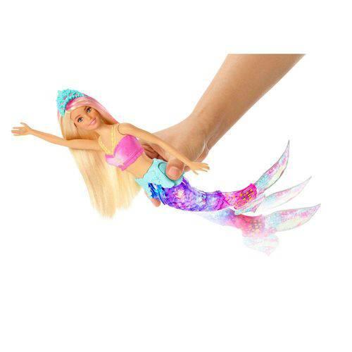 Boneca Barbie Dreamtopia Sereia Luzes Arco-iris - Mattel GFL82