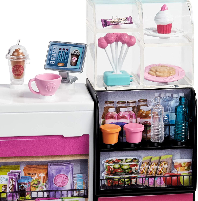 Boneca Barbie Playset Cafeteria e Acessórios - Mattel GMW03