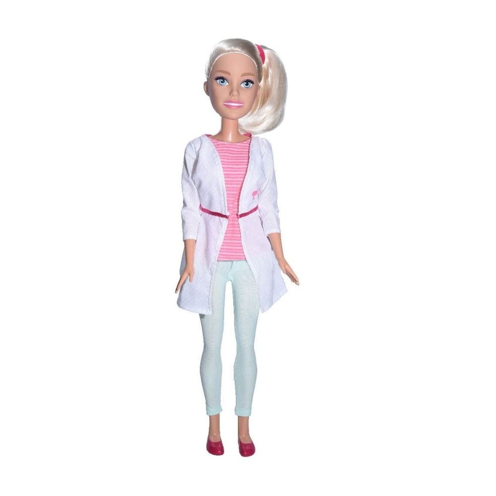 Boneca Barbie Veterinária  67 Cm 1262 - Pupee