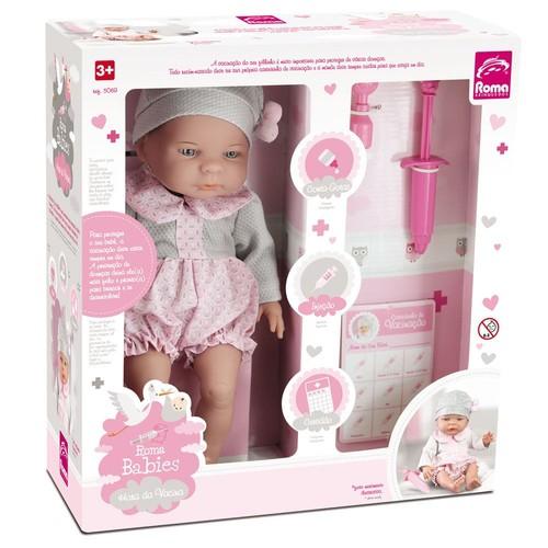 Boneca Bebê Primeira Mamadeira - Roma 5056