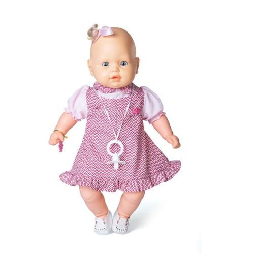 Boneca Bebezinho Vestido Rosa Listrado - Estrela