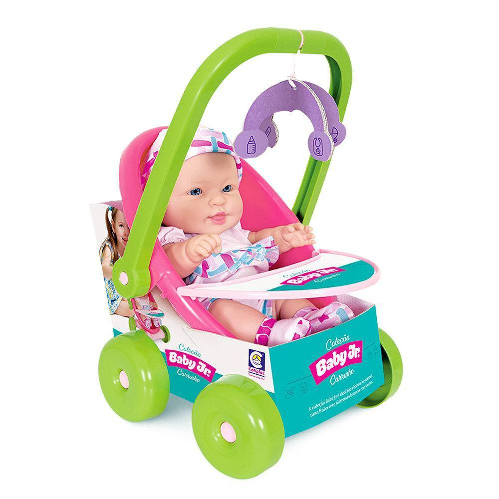 Boneca Coleção Baby Junior Colors Carrinho 2187 - Cotiplás
