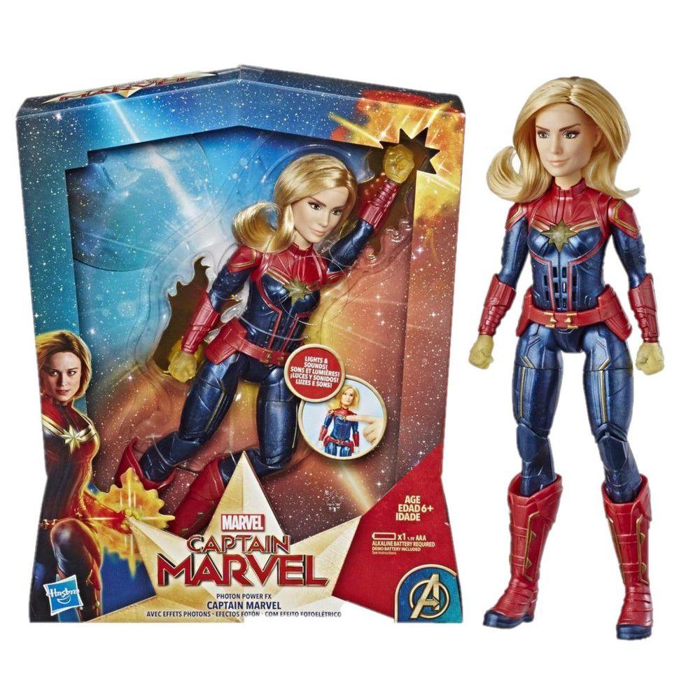 Boneca Com Luzes e Sons Capitã Marvel E3610 - Hasbro