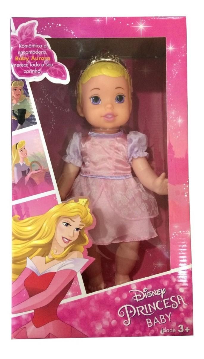 Boneca Disney Princesas Baby Aurora Vinil de Luxo - Mimo 6425