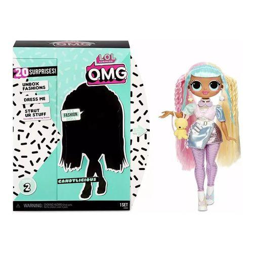 Boneca Lol Surprise OMG 20 Surpresas Candylicious Série 2 - Candide 8943