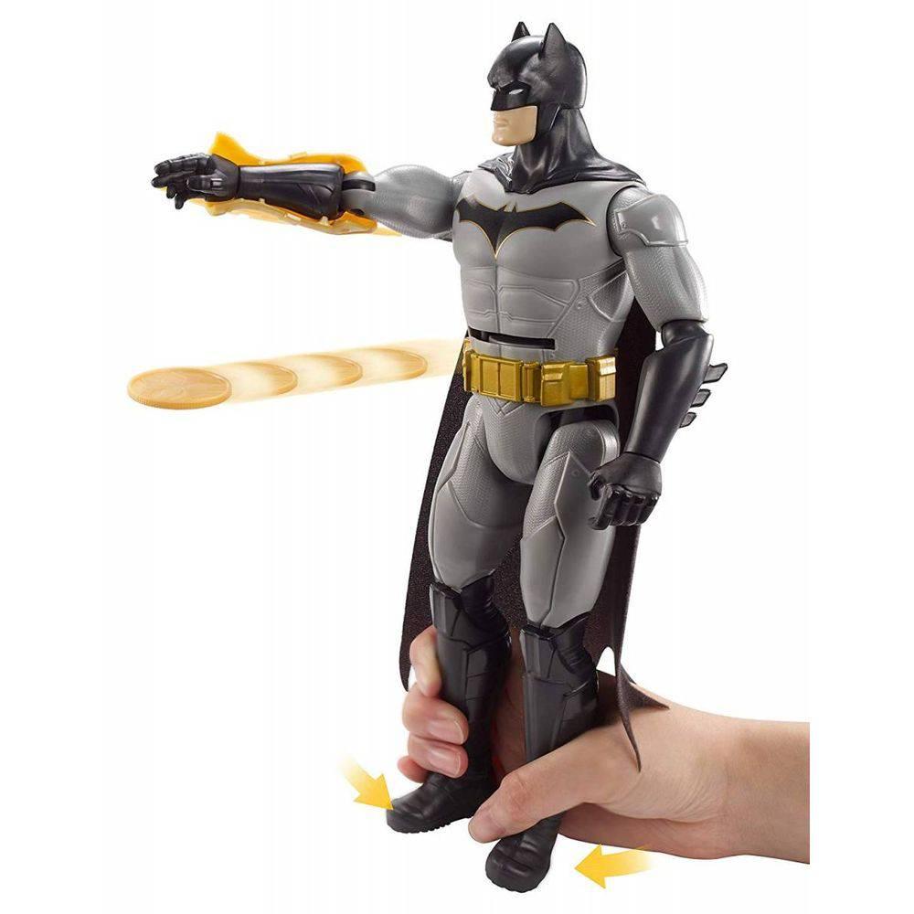 Boneco Batman Ataque Com Discos Liga Da Justiça 30cm FVM67  Mattel
