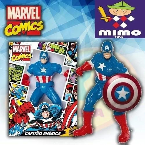 Boneco Capitão America Marvel Comics - Mimo 0552