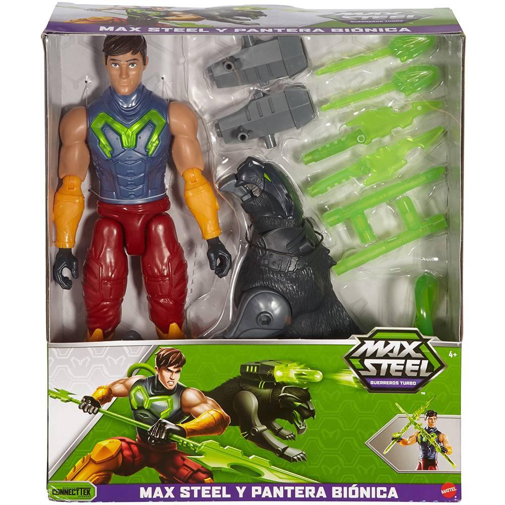Boneco Max Steel E Pantera Mattel - Fdt75