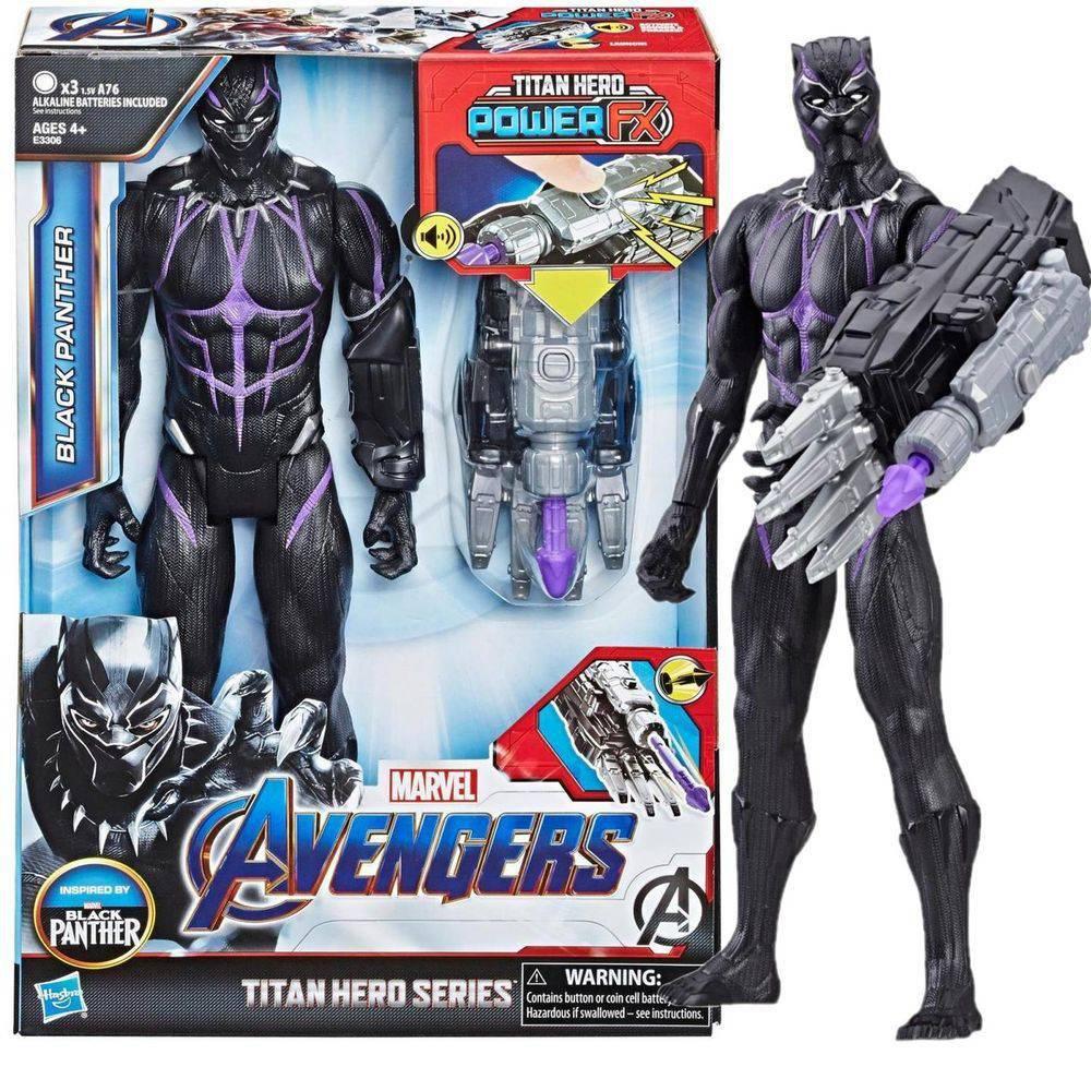 Boneco Pantera Negra 30cm Titan Hero Power Fx E3306 - Hasbro