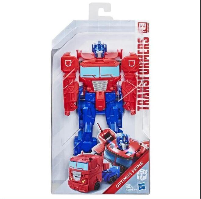 Boneco Transformers Authentic Titan Changers Optimus Prime- Hasbro E5883