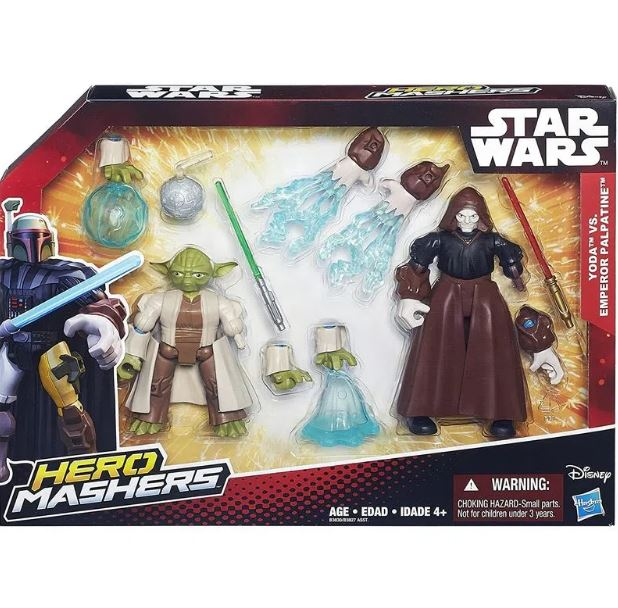 Boneco Yoda vs Emperor Palpatine Hero Mashers - Hasbro B3827
