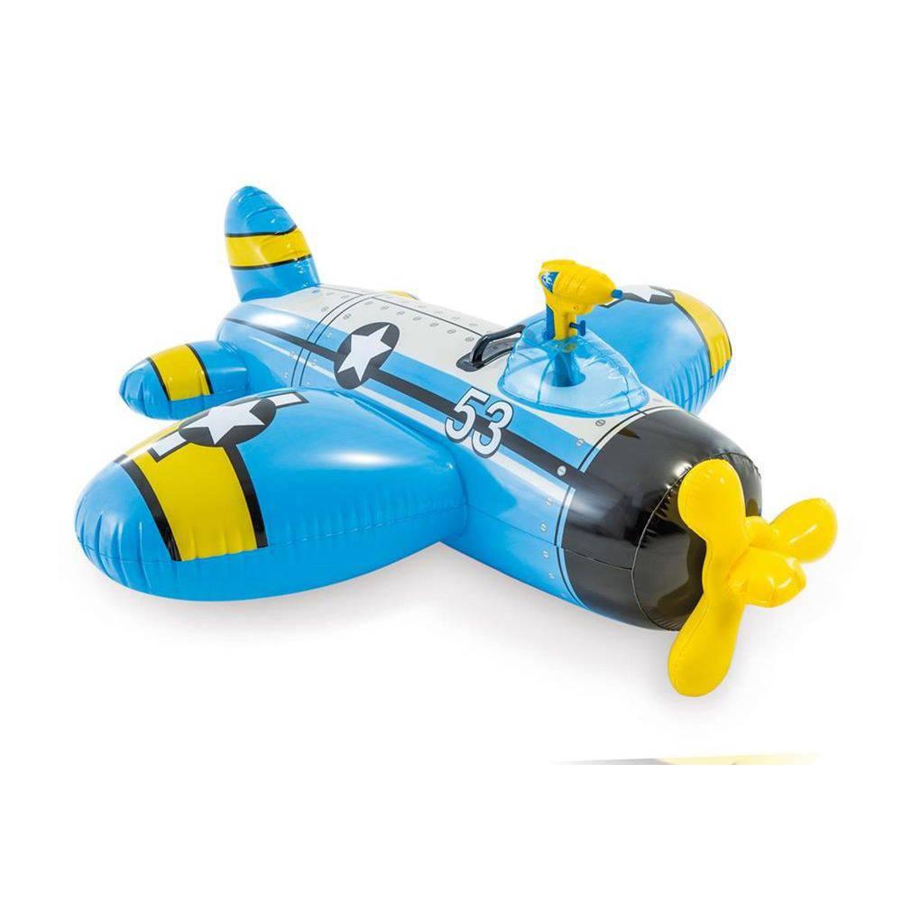 Bote Inflável, Avião Com Pistola De Água Azul - Intex