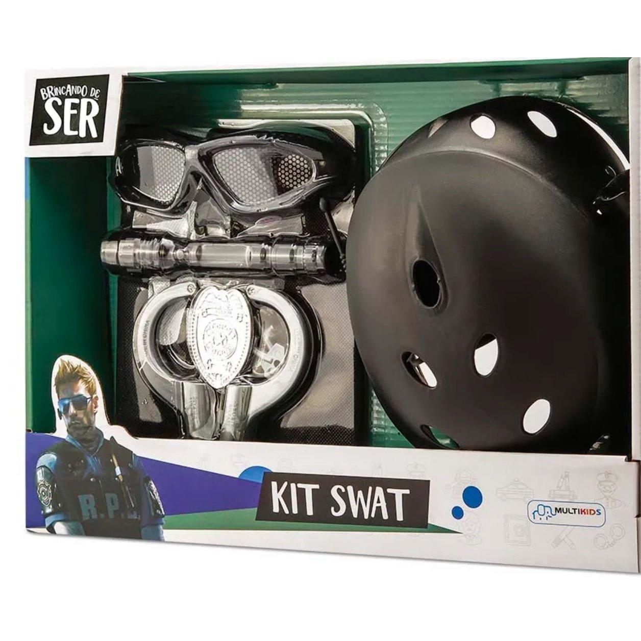 Brincando de Ser Kit Policia Swat com Óculos - Multikids BR966