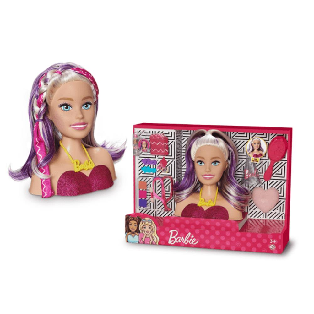 Busto e Acessórios Barbie Styling Faces - Pupee 1265
