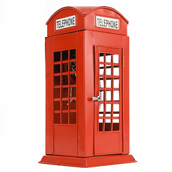 Cabine Telefônica Londrina De Metal Vermelho - Lunne 29892