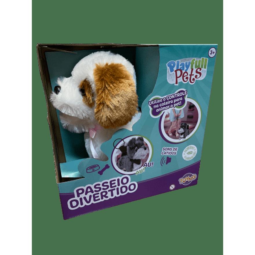 Cachorro Controle Remoto Branco e Marrom Play Full Pets - Toyng  37212