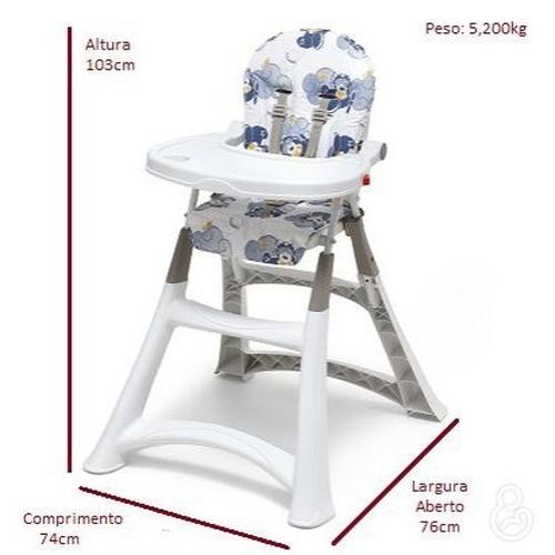 Cadeira Alimentação Alta Premium Aviador - Galzerano 5070AV