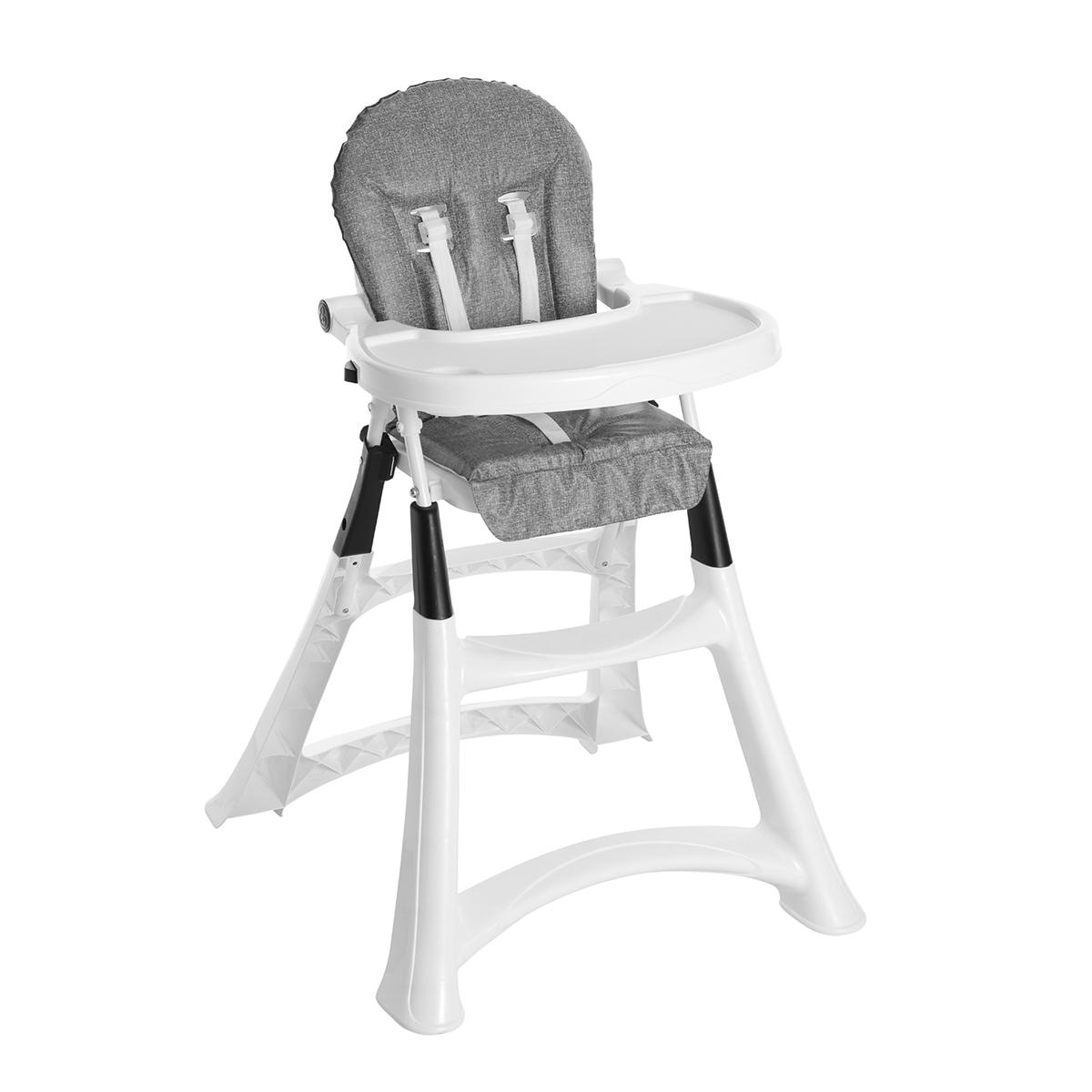 Cadeira de Alimentação Alta Premium Sand Cinza - Galzerano 5070SND