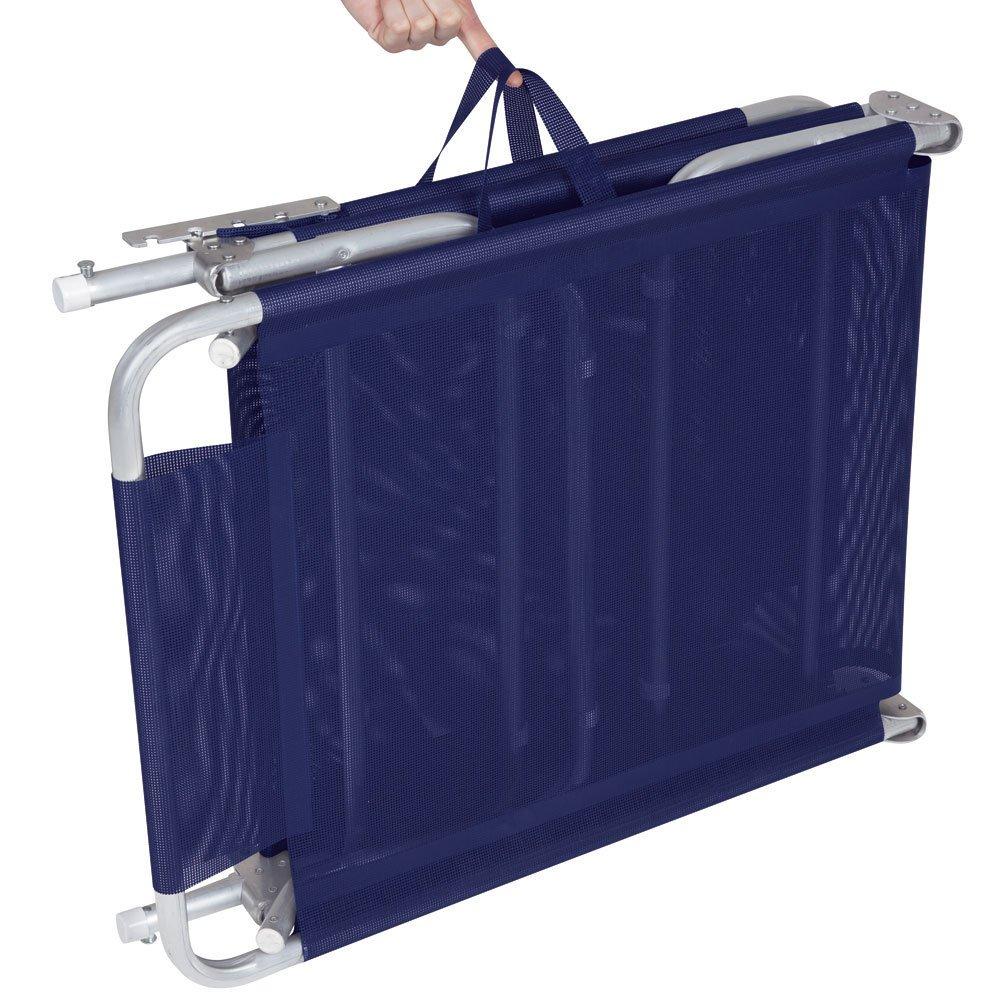 Cadeira Espreguiçadeira Alumínio Mor Azul Marinho - Mor 2701